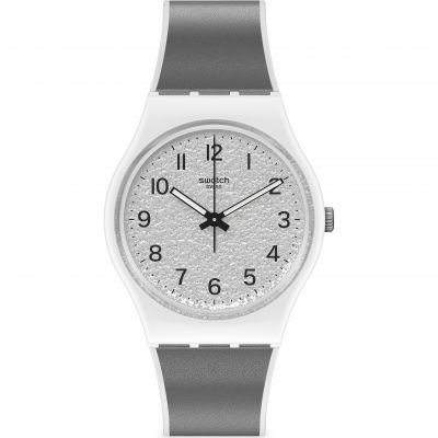 Swatch Originals Icy Gum Unisexuhr in Grau GW211