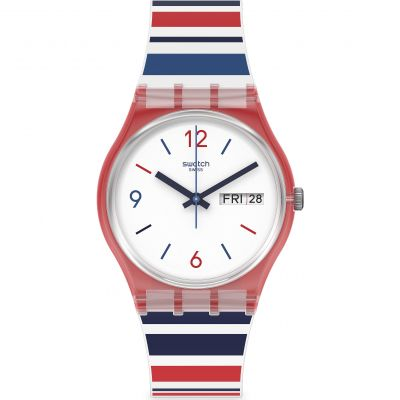 Swatch Originals Sea Barcode Unisexuhr in Zweifarbig GR712