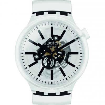 Swatch Blackinjelly Unisex horloge Transparant SO27E101