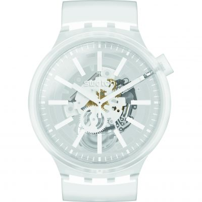 Swatch Big Bold Whiteinjelly Unisexuhr in Transparent SO27E106