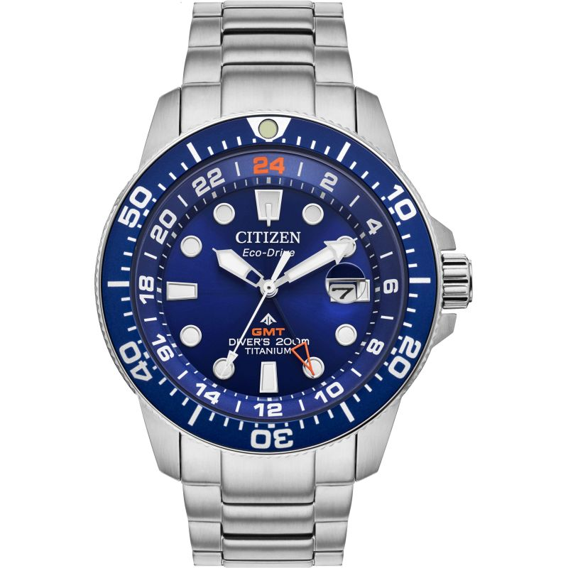 Mens Citizen Promaster Titanium Dive Gmt Titanium Watch BJ7111-51M