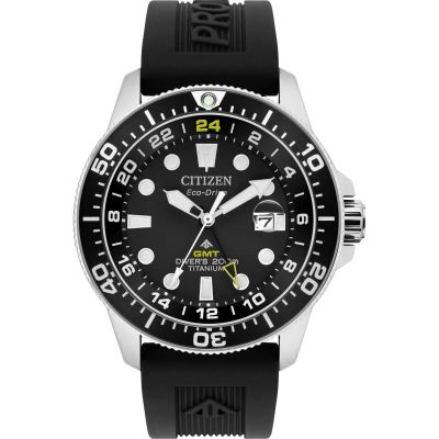 Mens Citizen Promaster Titanium Dive Gmt Titanium Watch BJ7110-03F