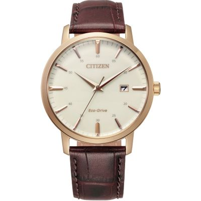 Citizen Classic Three Hand Herenhorloge Bruin BM7463-12A