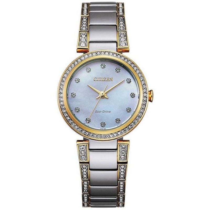 Ladies Citizen Silhouette Crystal Watch EM0844-58D