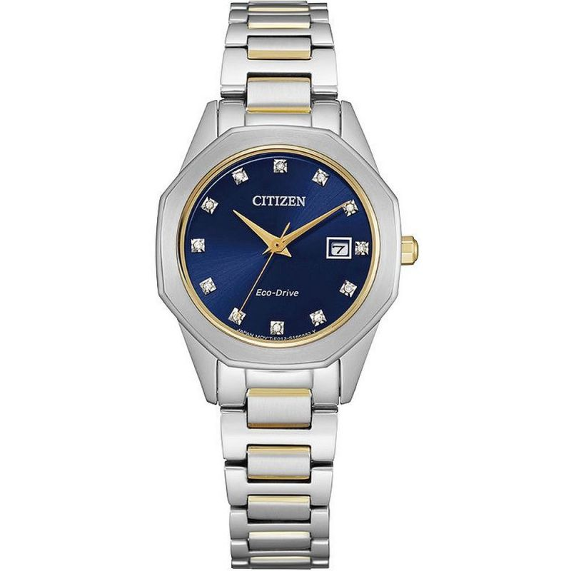 Ladies Citizen Silhouette Diamond Watch EW2584-53L
