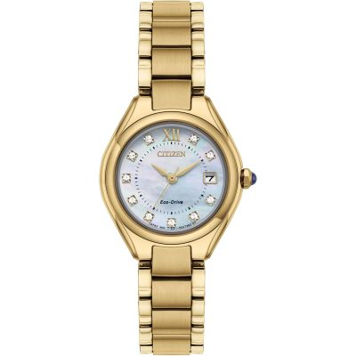 Citizen Silhouette Crystal Silhouette Crystal Damenuhr in Rosa EW2543-85D