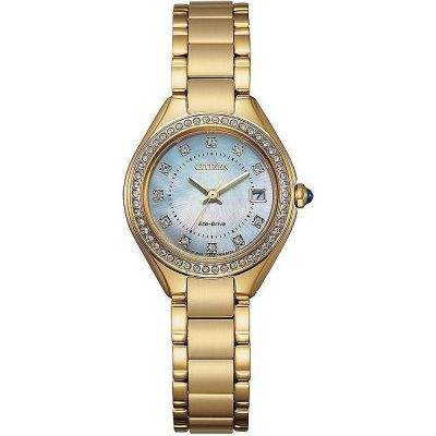 Citizen Silhouette Crystal Silhouette Crystal Damenuhr in Gold EW2552-50D