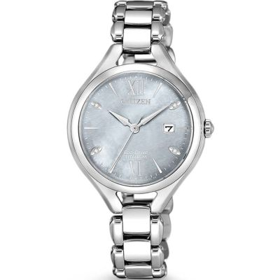 Citizen Super Titanium Ladies Super Titanium Damenuhr in Silber EW2560-86X
