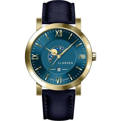 LLARSEN Hugo Herrenuhr in Blau 180GDG3-GBLUE20