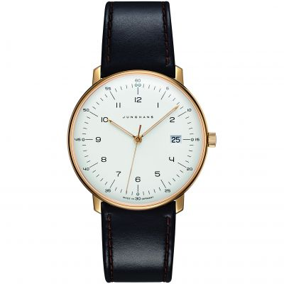 Junghans max bill Quarz Unisexuhr in Braun 041/7872.04