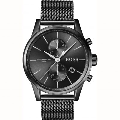 Gents Hugo Boss Quartz Jet Black Watch 1513769