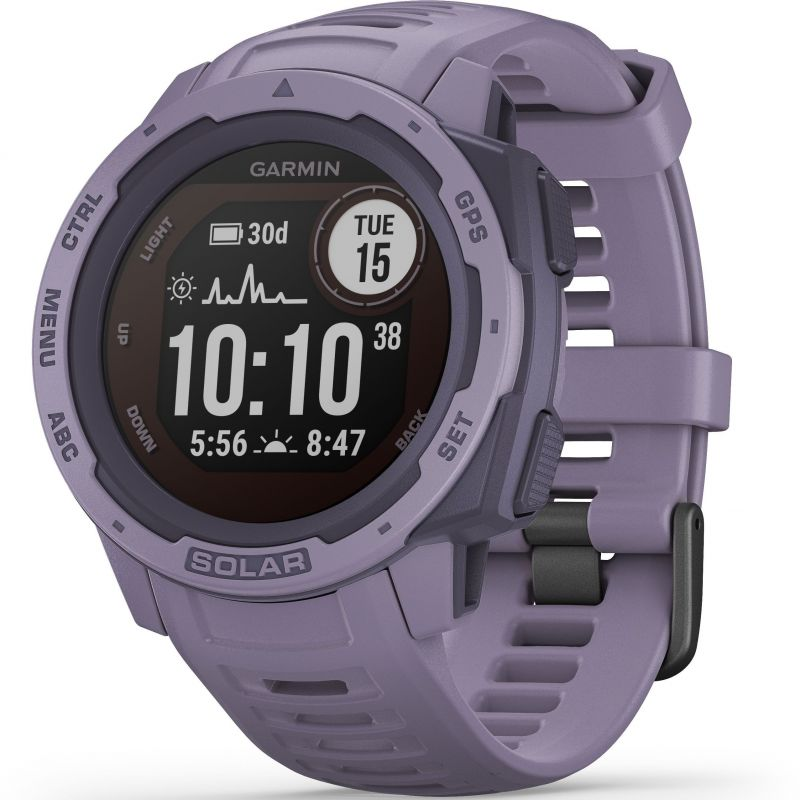 Unisex Garmin Instinct Solar Bluetooth Smartwatch 010-02293-02