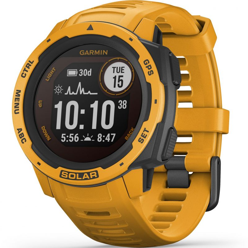 Unisex Garmin Instinct Solar Solar Powered Bluetooth Smartwatch 010-02293-09