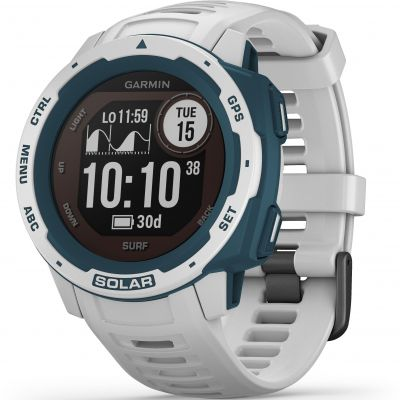 Unisex Garmin Instinct Solar Surf Edition Solar Powered Bluetooth Smartwatch 010-02293-08