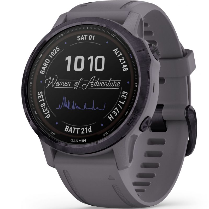 Unisex Garmin fenix 6S Pro Solar Solar Powered Bluetooth Smartwatch 010-02409-15