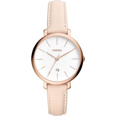 Fossil Jacqueline Pastel Pink Leather Watch ES4369