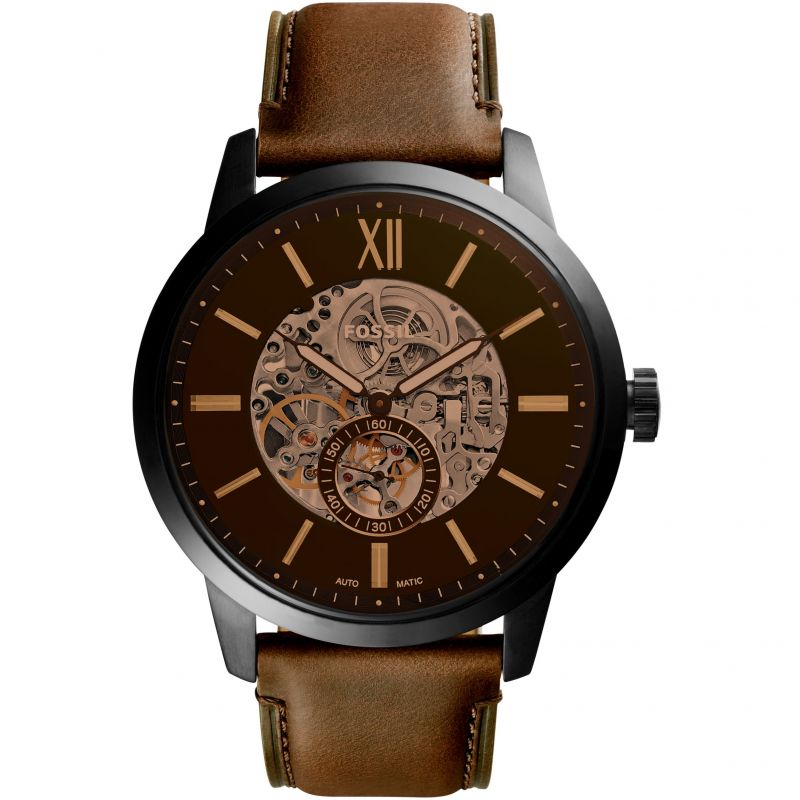 Fossil Townsman 48mm Automatic Brown Leather Watch ME3155