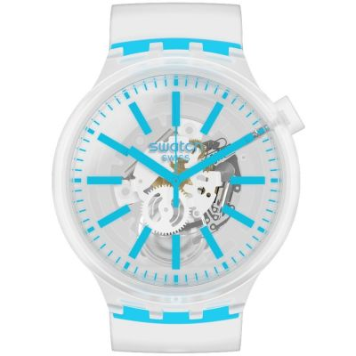 Swatch Big Bold Blueinjelly Unisexuhr in Transparent SO27E105