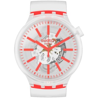 Swatch Orangeinjelly Unisex horloge Transparant SO27E102