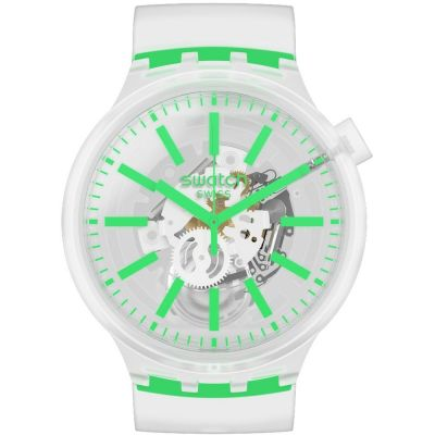 Swatch Greeninjelly Unisex horloge Transparant SO27E104