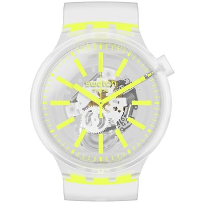 Swatch Big Bold Yellowinjelly Unisexuhr in Transparent SO27E103