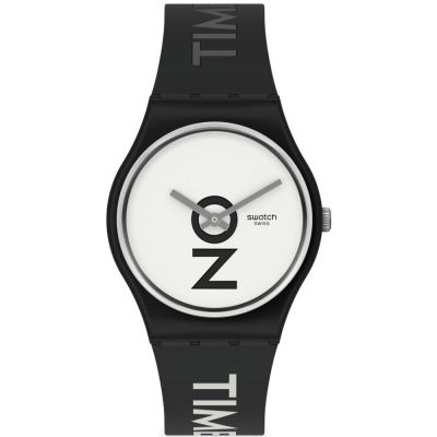 Swatch Always There Unisex horloge Zwart GB328