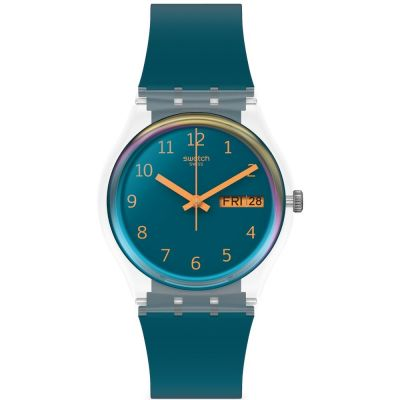 Swatch June Essentials Blue Away Unisexuhr in Blau GE721