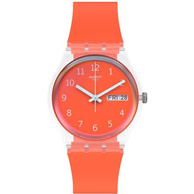 Swatch Red Away Unisexklocka Röd GE722