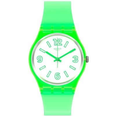 Swatch June Essentials Electric Frog Unisexuhr in Grün GG226