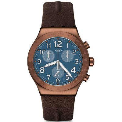 Swatch Back To Copper Herenhorloge Bruin YVC100