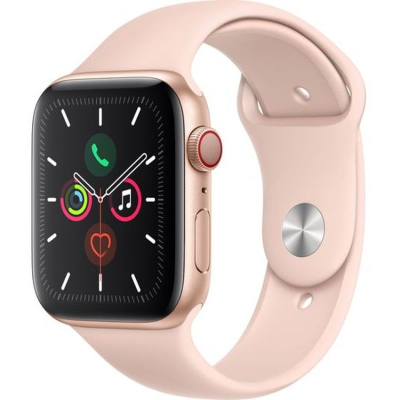 Apple Watch Series 5 GPS + Cellular, 40mm Gold Aluminium Case with Pink Sand Sport Band MWX22B/A