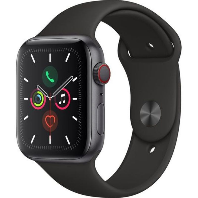 Apple Watch Series 5 GPS + Cellular, 40mm Space Grey Aluminium Case with Black Sport Band MWX32B/A