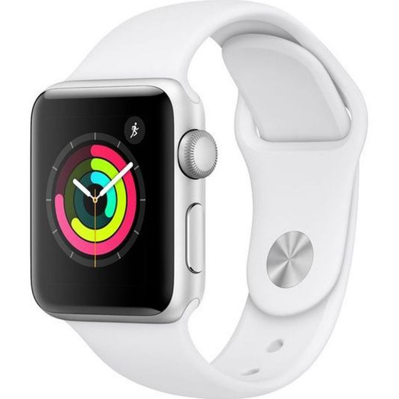 Apple Watch Series 3 GPS, 38mm Silver Aluminium Case with White Sport Band MTEY2B/A