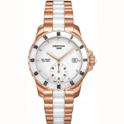 Certina DS First Lady Ceramic Bracelet Watch C0142353301100