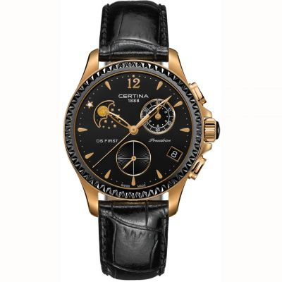 Certina DS First Lady Chronograph Damkronograf Svart C0302503605600
