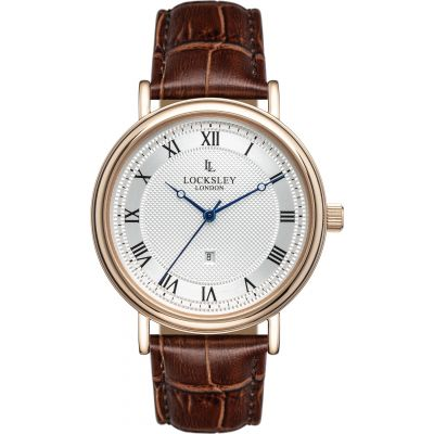 Locksley London Locksley London Herenhorloge Bruin LL0050440