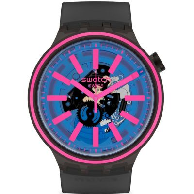 Swatch Blue Taste Unisex horloge Zwart SO27B111
