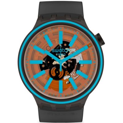 Swatch Fire Taste Unisex horloge Zwart SO27B112
