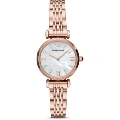 Emporio Armani Gianni T-Bar Dameshorloge Rose Gold AR11316