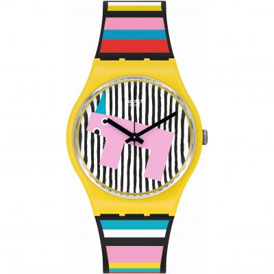 Swatch Original Gent Necessary Focus Unisexuhr in Mehrfarbig GZ341