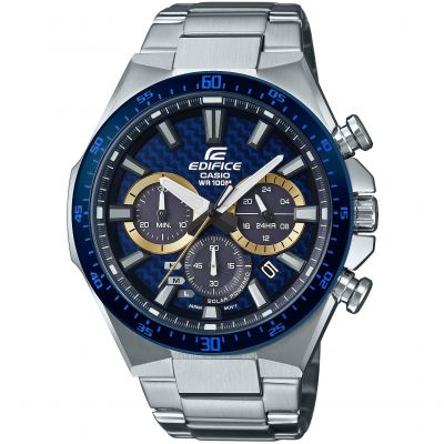 Casio Exclusive Herrkronograf Silver EQS-800BCD-2AVUEF