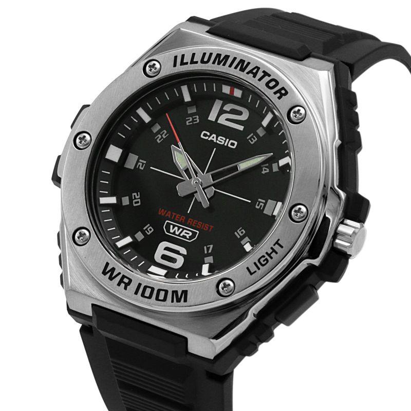 Casio Chronograph Collection Mens Watch (MWA-100H-1AVEF) Black    WatchShop.com™