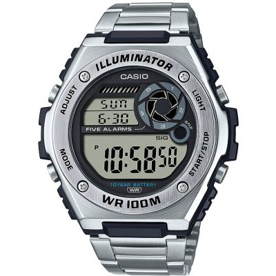 Casio Collection Herrkronograf Silver MWD-100HD-1AVEF