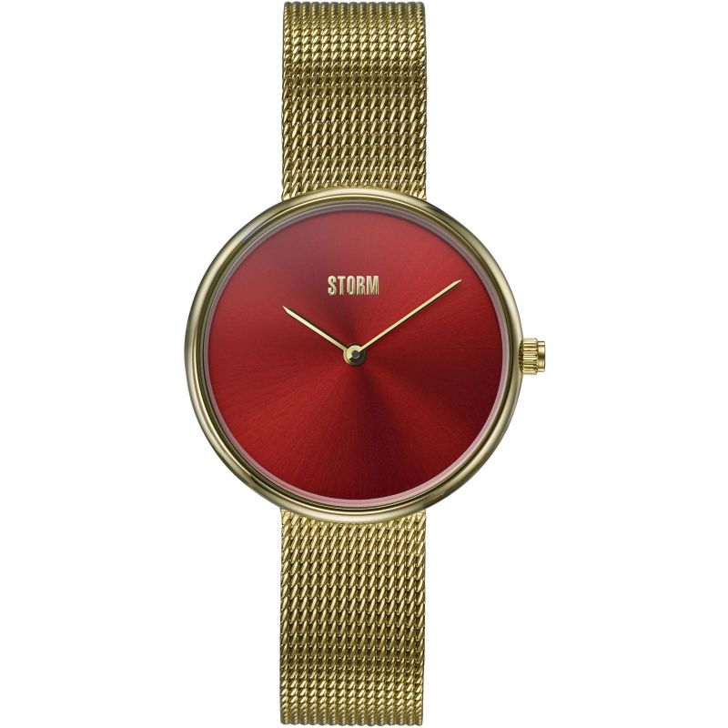 Ladies STORM Selina Gold Red Watch 47480/GD/R