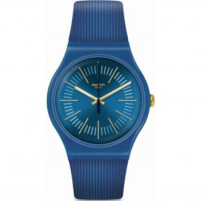 Swatch Essentials Aug 2020 Cyderalblue Herrenuhr in Blau SUON143