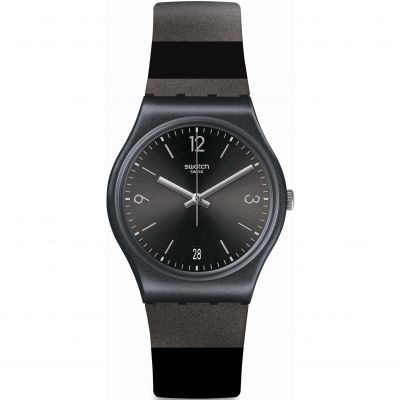 Swatch Essentials Aug 2020 Blackeralda Unisexuhr in Schwarz GB430