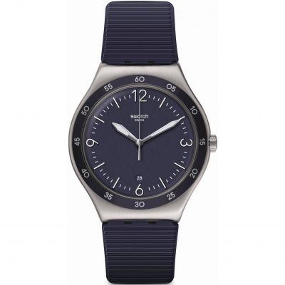 Swatch Essentials Aug 2020 Blue Suit Big Classic Herrenuhr in Marine YWS453