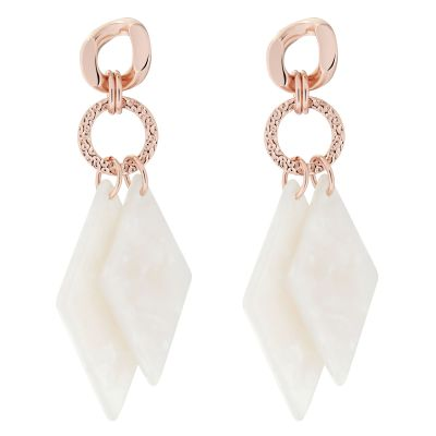 Ted Baker Dam Deajra: Double Diamond Drop Earring Rostfritt stål TBJ2656-24-08