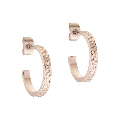 Ted Baker Heanna Hammered Hoop Earrings TBJ2698-24-03