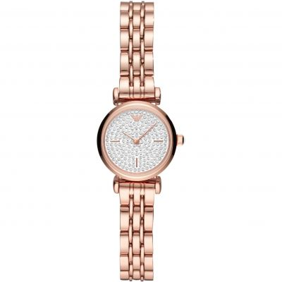 Emporio Armani Gianni T-Bar Dameshorloge Rose Gold AR11266
